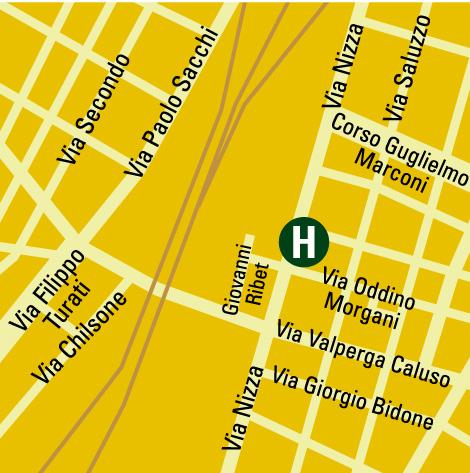 Plano de acceso de Executive Hotel