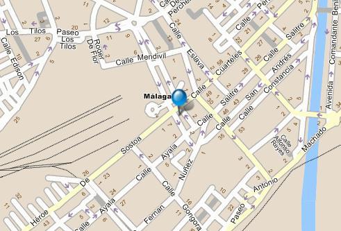Plano de acceso de Hotel Barcelo Malaga