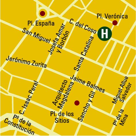 Plano de acceso de Hotel Silken Zentro