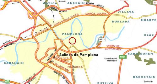 Plano de acceso de Hotel Zenit Pamplona