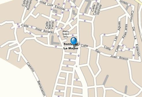 Plano de acceso de Hotel El Bulli  H. Hacienda Benazuza