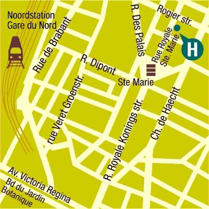 Plano de acceso de Hotel Royal Centre