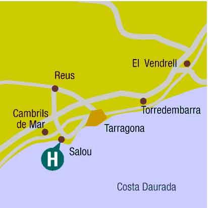 Plano de acceso de Hotel Regente Aragon