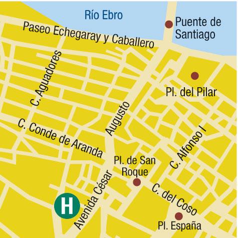 Plano de acceso de Hotel Habitat Center Los Girasoles