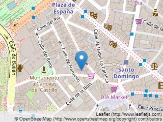 Plano de acceso de Hotel El Coloso