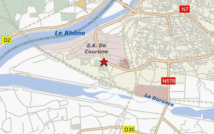 Plano de acceso de Hotel Kyriad Avignoncourtine Gare Tgv