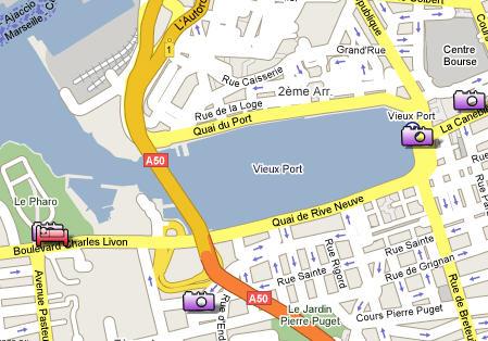 Plano de acceso de New Hotel Of Marseille