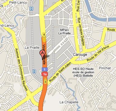 Plano de acceso de Hotel Ramada Encore Geneve