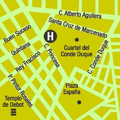 Plano de acceso de Hotel Husa Princesa