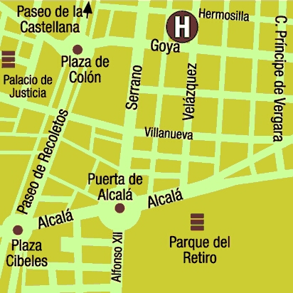 Plano de acceso de Hotel Adler