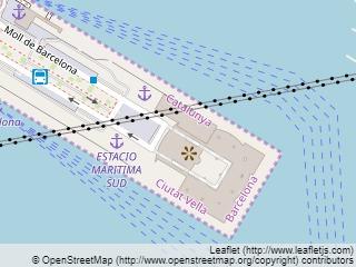 Plano de acceso de Hotel Eurostars Grand Marina