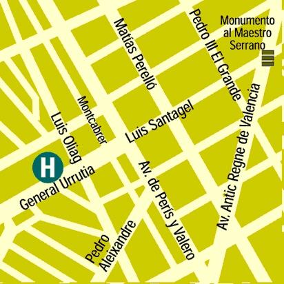 Plano de acceso de Hotel Medium Valencia