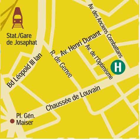 Plano de acceso de Hotel Gresham Belson