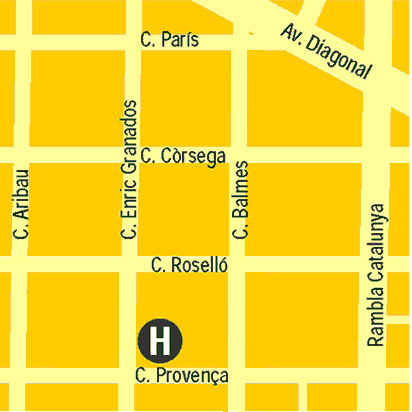 Plano de acceso de Hotel America