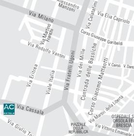 Plano de acceso de Hotel Ac Brescia