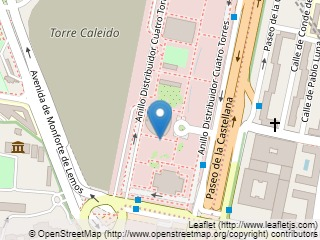 Plano de acceso de Hotel Eurostars Madrid Tower