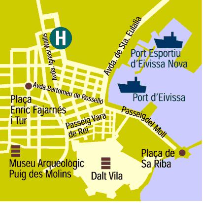 Plano de acceso de Hotel Royal Plaza