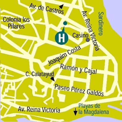 Plano de acceso de Hotel Hoyuela