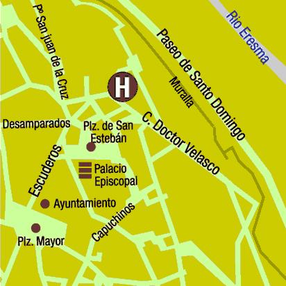 Plano de acceso de Hotel Los Linajes