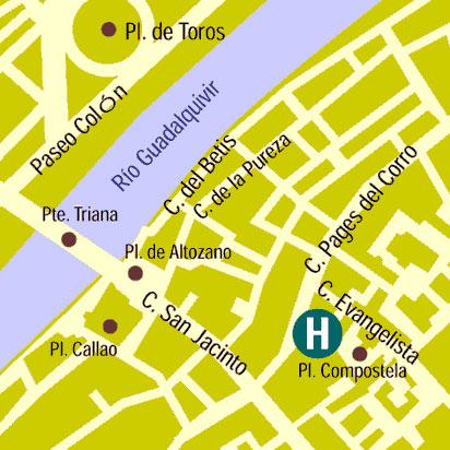 Plano de acceso de Hotel Zenit Sevilla
