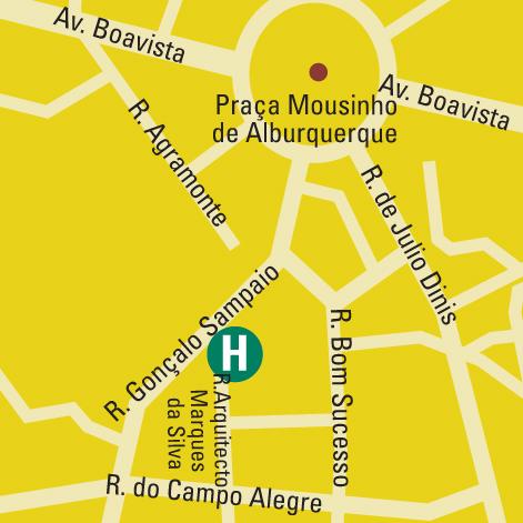 Plano de acceso de Hotel Hf Tuela Porto