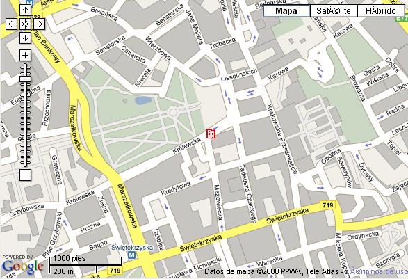 Plano de acceso de Hotel Sofitel Victoria