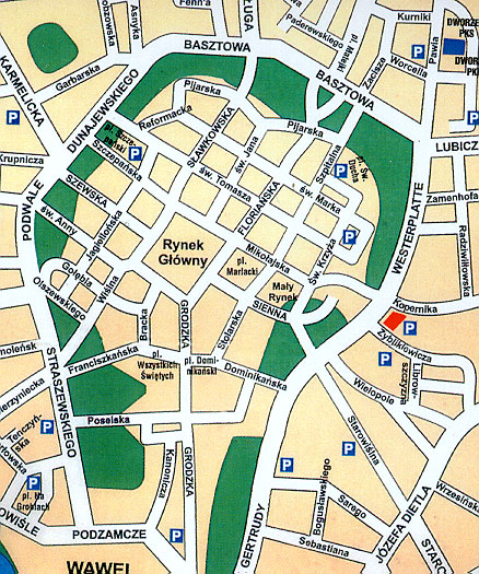 Plano de acceso de Wyspianski Hotel