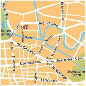 Plano de acceso de Econtel Berlin Hotel