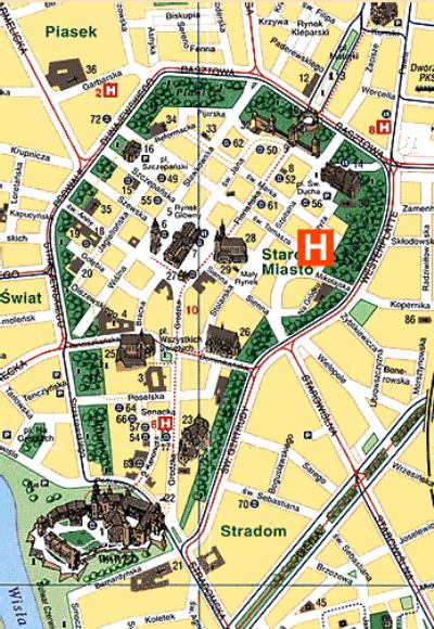 Plano de acceso de Classic Hotel