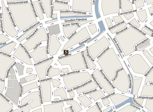Plano de acceso de Hotel Martin's Relais Oud Huis Amsterdam