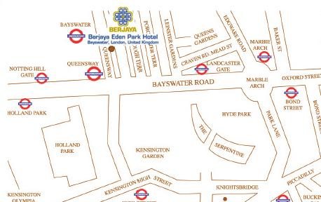 Plano de acceso de Berjaya Eden Park Hotel