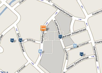 Plano de acceso de Aragon Hotel