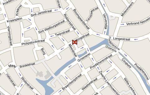 Plano de acceso de Hotel Oud Huis De Peellaert