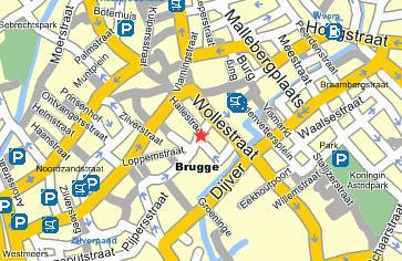 Plano de acceso de Hotel Martin's Brugge Oude Burg