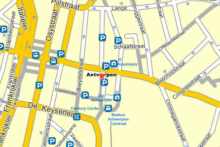 Plano de acceso de Hotel All Seasons Antwerpen City Center (Formerly Agora)