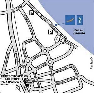Plano de acceso de Hotel Novotel Gdansk Marina