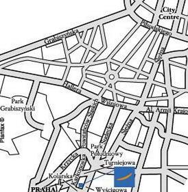 Plano de acceso de Hotel Novotel Wroclaw