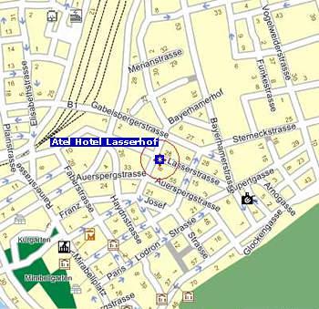 Plano de acceso de Lasserhof Hotel