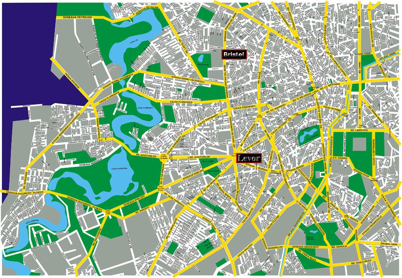 Plano de acceso de Lev Or Hotel Bucharest