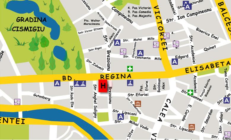 Plano de acceso de Central Hotel