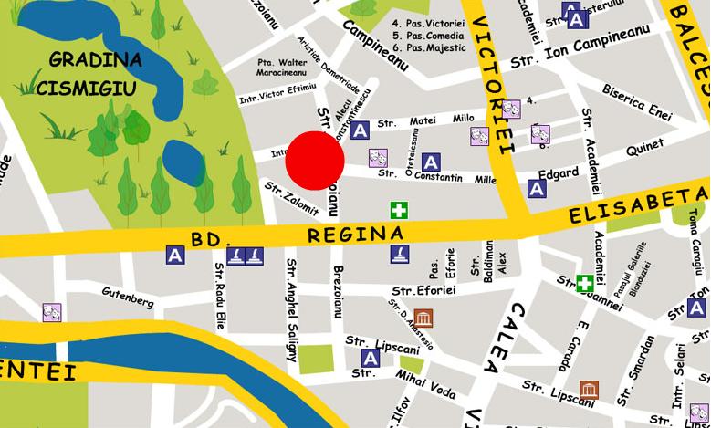 Plano de acceso de Opera Hotel
