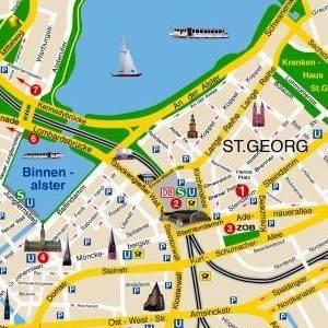 Plano de acceso de Hotel Lumen Am Hauptbanhof