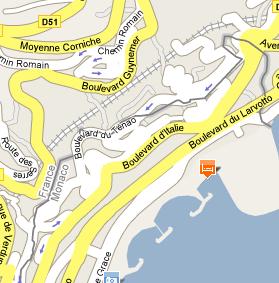 Plano de acceso de Hotel Le Meridien Beach Plaza
