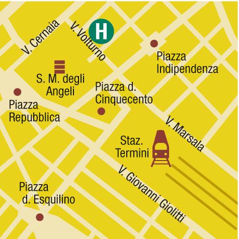Plano de acceso de Hotel Eurostars Domus Aurea
