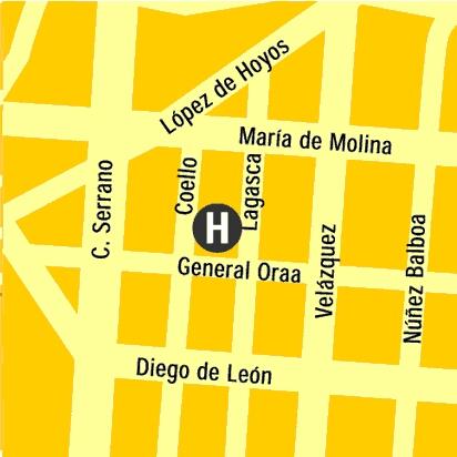 Plano de acceso de Hotel Barrio Salamanca Suites