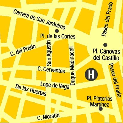 Plano de acceso de Hotel Lope De Vega