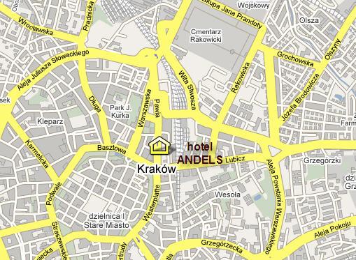 Plano de acceso de Hotel Andels