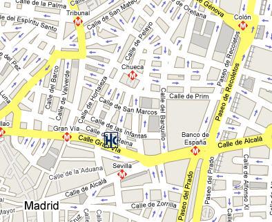 Plano de acceso de Hotel Catalonia Gaudi