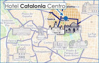 Plano de acceso de Hotel Catalonia Centro