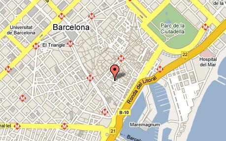 Plano de acceso de Hotel Catalonia Avinyo
